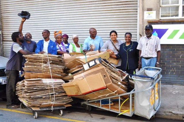 cardboard recycling project in Durban ((with local NGO Asiye eTafuleni)