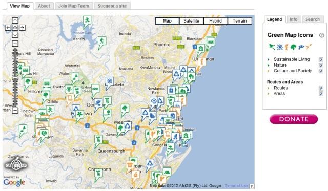 Online eThekwini Green Map